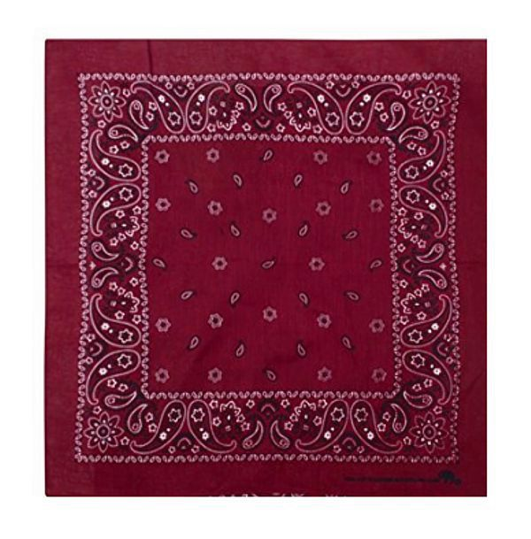 Bandana: Burgundy Red
