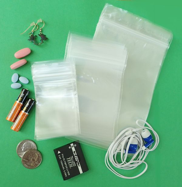 Mini Reclosable Poly Bags, Assortment
