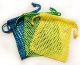 Three Nylon Mesh Drawstring Bags (BGY)